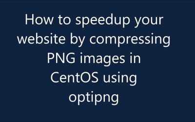 Rendez votre site web plus rapide en comprimant des images png sous Linux avec optipng