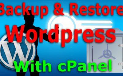 Pas d'UpdraftPlus, pas de problème, sauvegarde et restauration de votre site WordPress avec cPanel sur un hôte partagé