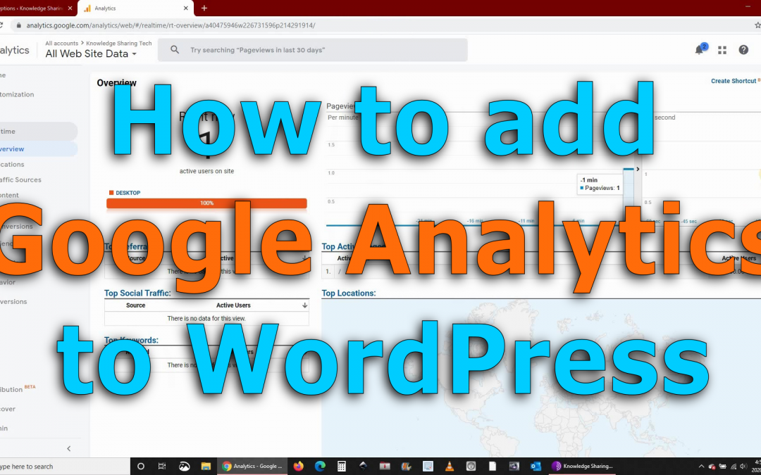 Analyze your Website with Google analytics