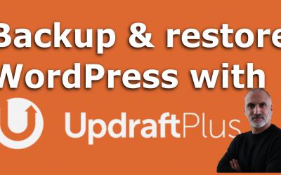 Instructions faciles pour sauvegarder et restaurer WordPress avec UpdraftPlus