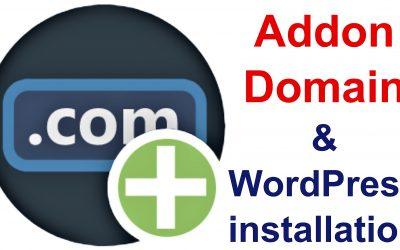 Comment créer un domaine Addon dans cPanel