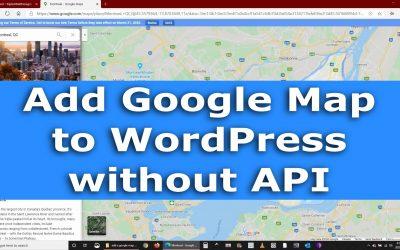 Enrichissez votre site Web WordPress avec une carte Google sans API