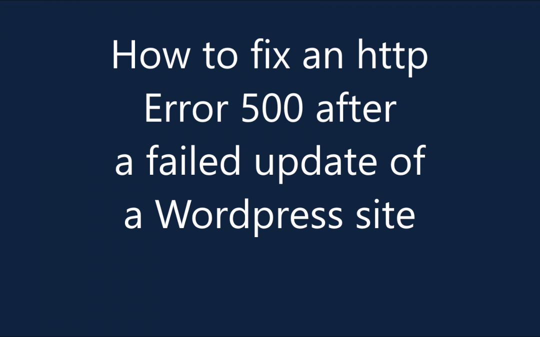 Learn how to fix HTTP Error 500 on WordPress