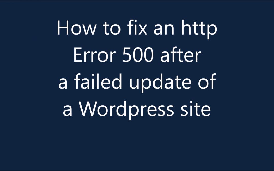Apprenez à corriger l'erreur HTTP 500 sur WordPress